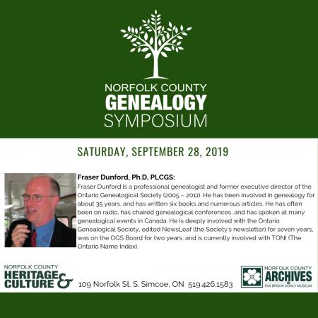 Genealogy Symposium Session #1
