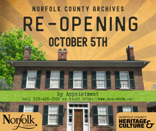 Norfolk County Archives Reopens After COVID-19 Closure
